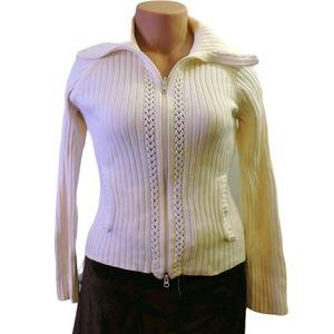 Jacob connecxion knit zip up sweater size large